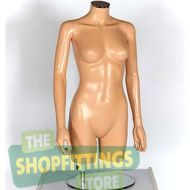 Female Torso Mannequin - No Head With Arms Fleshtone