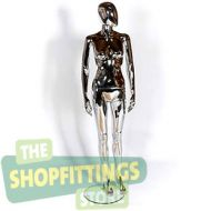 Female Chrome Mannequin With Egg Style Head